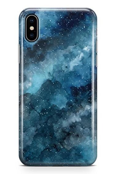 Lopard iPhone Xs Max Kılıf Silikon Arka Kapak Koruyucu Gece ve Bulutlar Desenli Full HD Baskılı Renkli